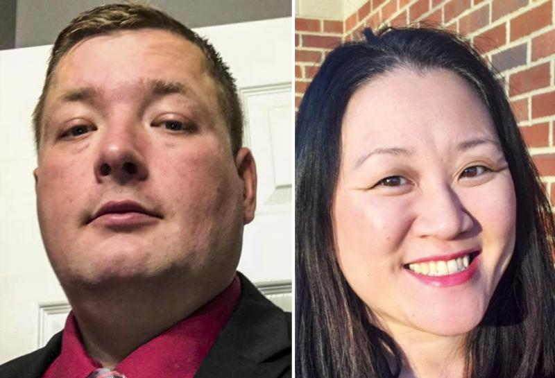 McLean County Board candidates Jeremiah Houston (District 1 Republican) and Sharon Chung (District 7 Democrat).
