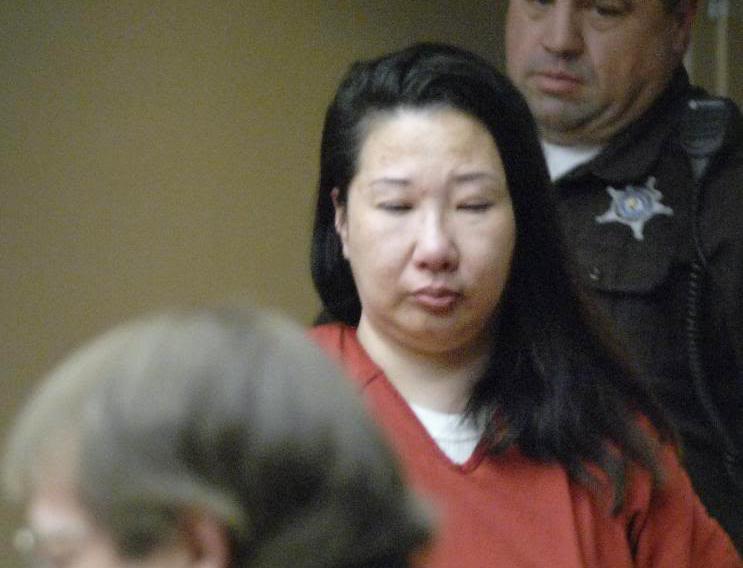 Misook Wang at her sentencing in 2012 in the murder of Linda Tyda, her mother-in-law.