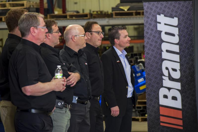 Brandt's management team during Friday's event.