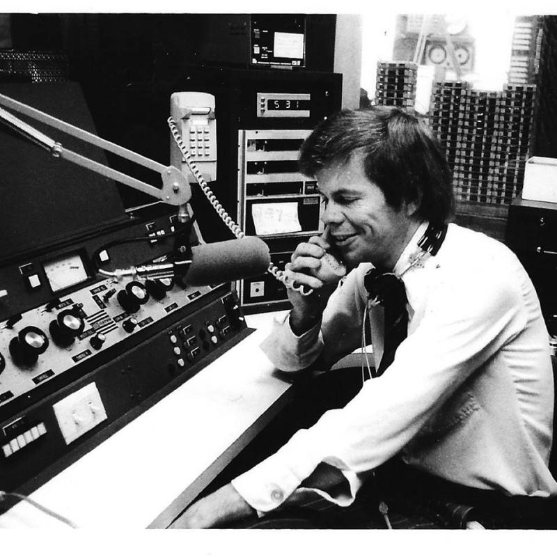 A 38-year-old Don Munson on the air at WJBC where he hosted a popular radio show for more than 30 years.