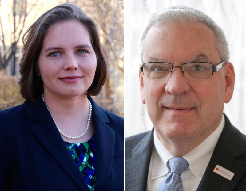 Democrat Elizabeth Johnston has filed her petitions to run for McLean County Board against incumbent Republican David Selzer. Their district is in northeast Normal.