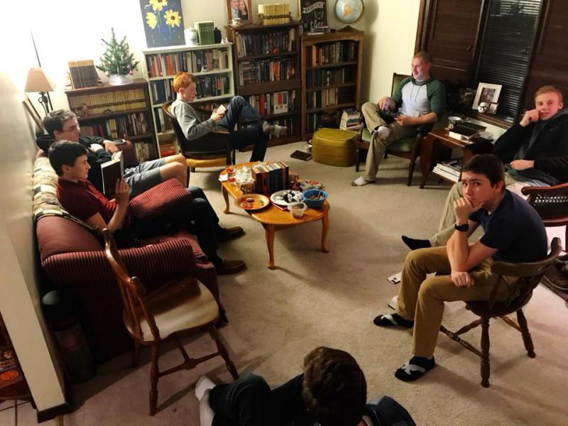 Boy's Bible Study group at Faith Lutheran Church.