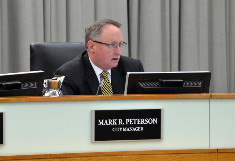 Normal City Manager Mark Peterson at a recent council meeting.
