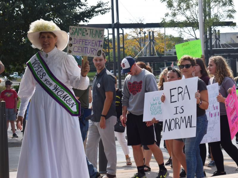 The Rally to Ratify in support of the Equal Rights Amendment on Saturday, Sept. 16, 2017, in Normal.