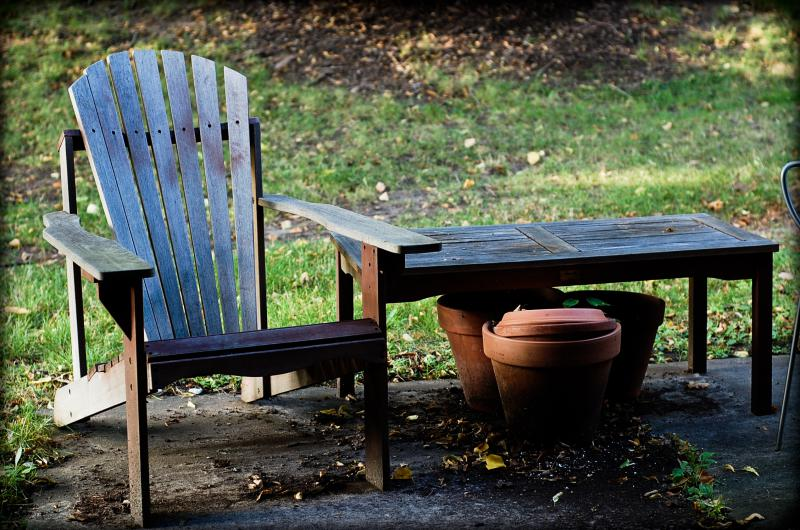 Careful treatment of your outdoor furniture can help it last.