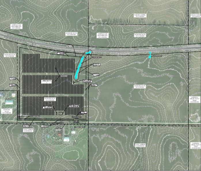 The Arrowsmith I LLC solar array would be just south of railroad trackseast of Arrowsmith and north of East 1000 North Road.