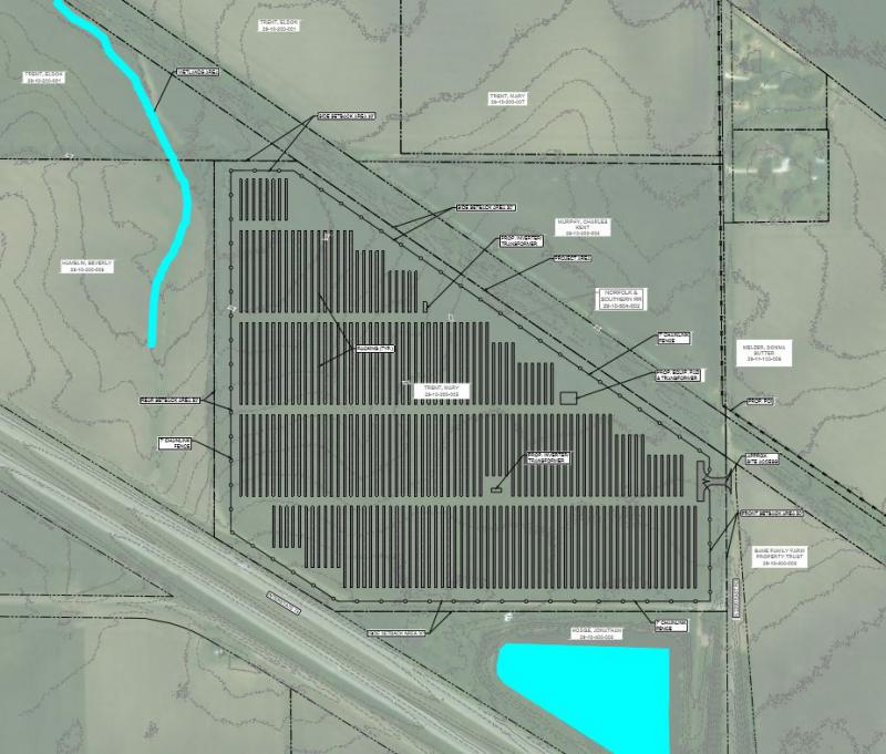 The Moraine Solar LLC site would be near I-74 and N 2200 East Road near Downs