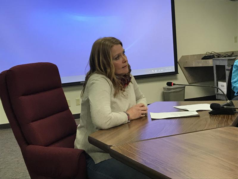 Kimberly Brucker of Lexington questioned where one person's right to make a profit from their land ends if it also causes harm to a neighbor. Brucker testified Tuesday evening before the McLean County ZBA about Invenergy's proposed wind farm.