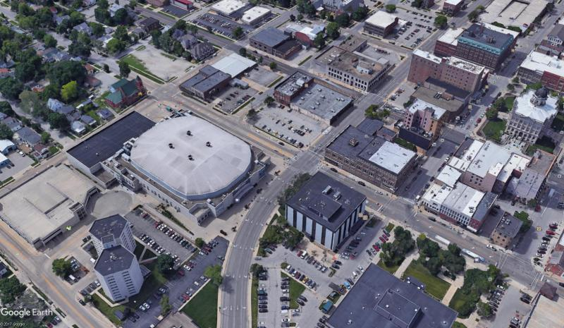 Developer Jim Pearson is proposing a new hotel and conference center just north of Grossinger Motors Arena, where a city-owned parking lot is now located.