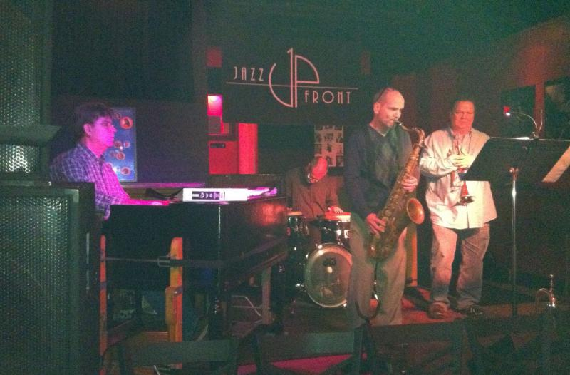 Tom Becker, left, and Friends at Jazz UpFront in Bloomington