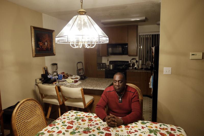 Homeownership for African-Americans lags that of whites by about 30 percent. In this photo, Yul Dorn, a San Francisco pastor, faces foreclosure proceedings on his home.