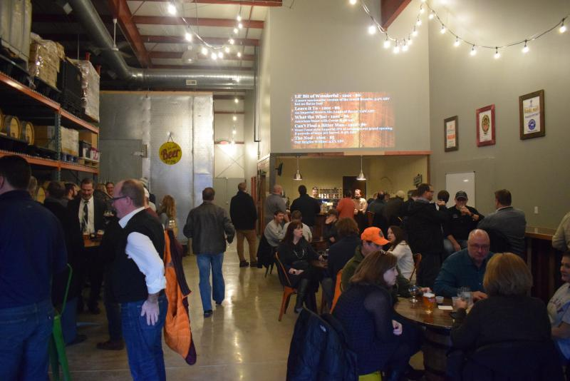 The new Lil Beaver Brewery taproom in south Bloomington.