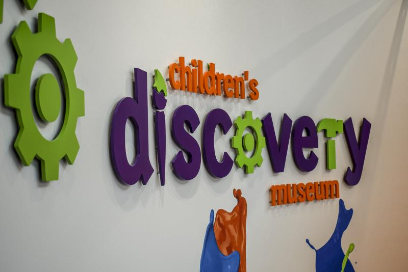 The new logo and design work at the Children's Discovery Museum in Uptown Normal on Tuesday, Feb. 20, 2018.