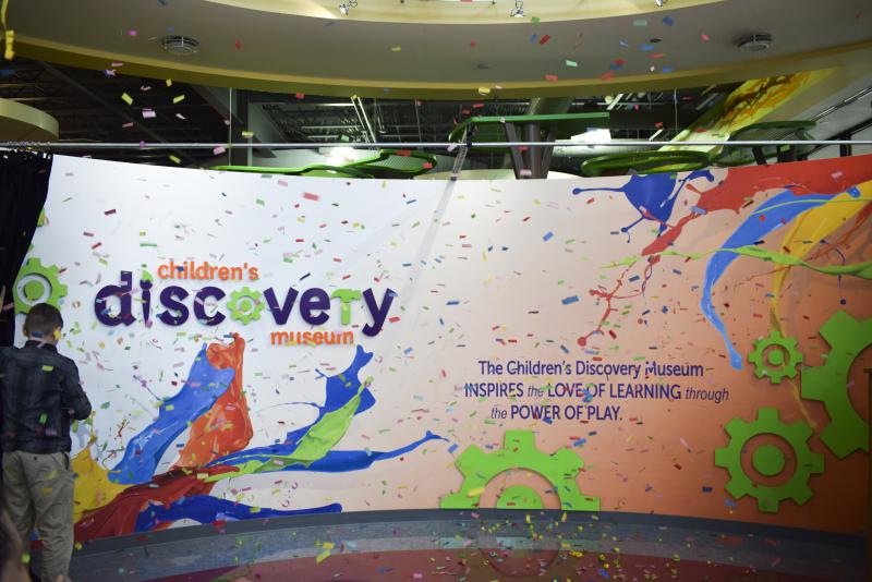 The new Children's Discovery Museum logo and design work greets visitors in Uptown Normal on Tuesday, Feb. 20, 2018.