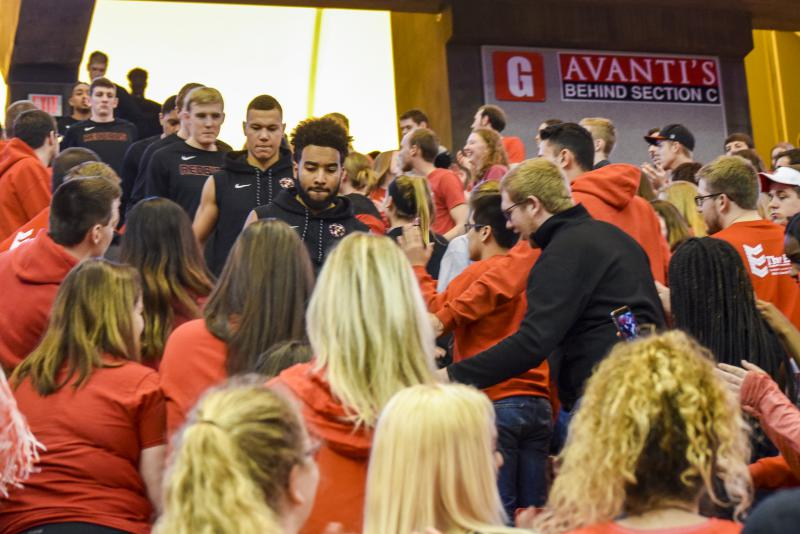 Highlights from the last Redbird men's basketball home game of the season Wednesday, Feb. 21, 2018, at Redbird Arena. ISU beat Drake, 89-81, in overtime.