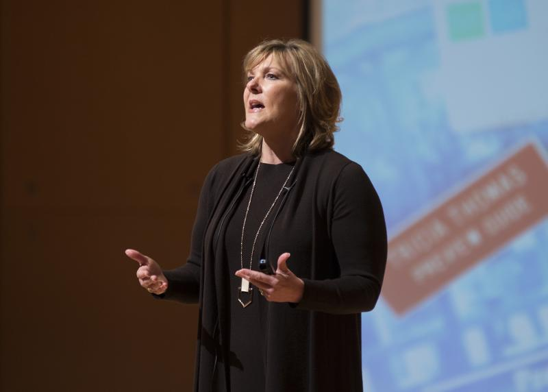 Tricia Griffith speaks at ISU
