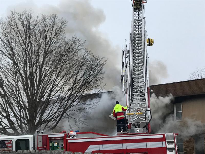 The fire happened Saturday afternoon at an apartment building in the 1100 block of Gettysburg Drive, just north of Empire Street.