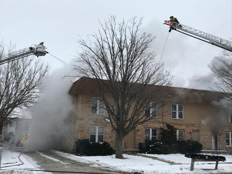 The fire happened at an apartment in the 1100 block of Gettysburg Drive, just north of Empire Street.