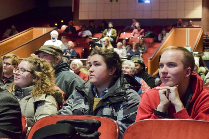 The crowd at GLT's Candidate Forum on Tuesday, Feb. 6, 2018, at the Normal Theater.