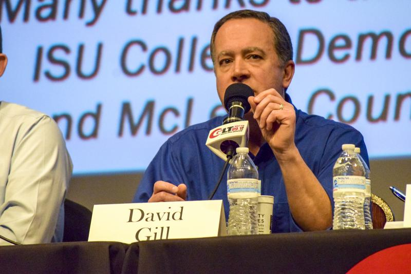 Democratic candidate David Gill during GLT's Candidate Forum on Tuesday, Feb. 6, 2018, at the Normal Theater.