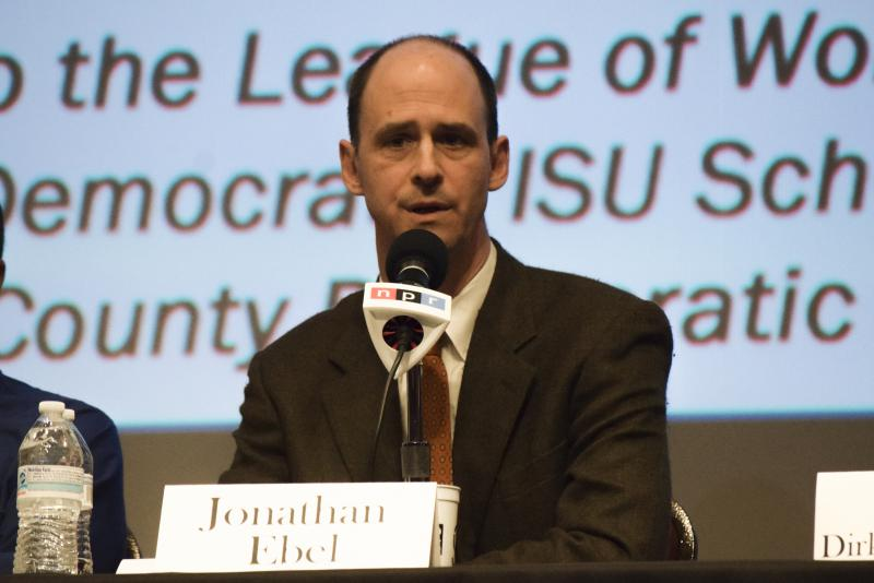 Democratic candidate Jonathan Ebel during GLT's Candidate Forum on Tuesday, Feb. 6, 2018, at the Normal Theater.