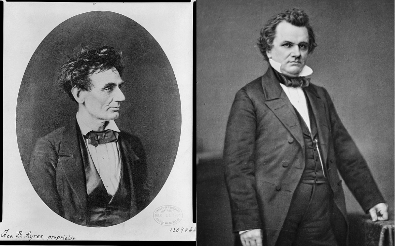 Abraham Lincoln and Stephen Douglas