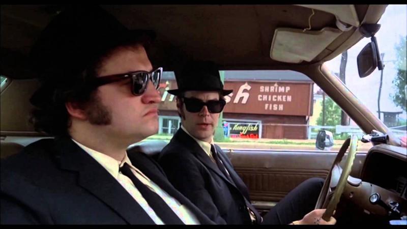 "John Belushi, left, and Dan Aykroyd in ""The Blues Brothers."""