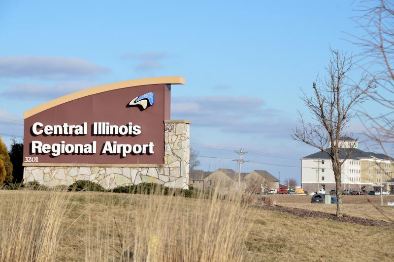 Central Illinois Regional Airport in Bloomington.