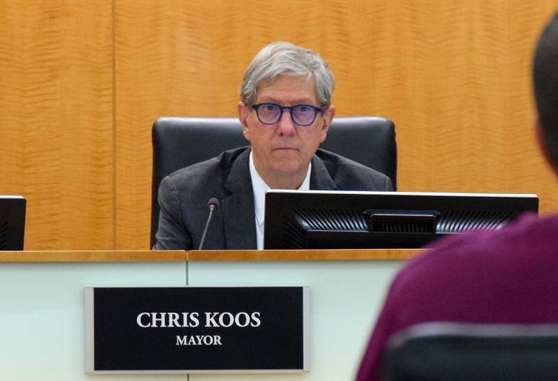 Mayor Chris Koos is active in the group Mayors Against Illegal Guns.
