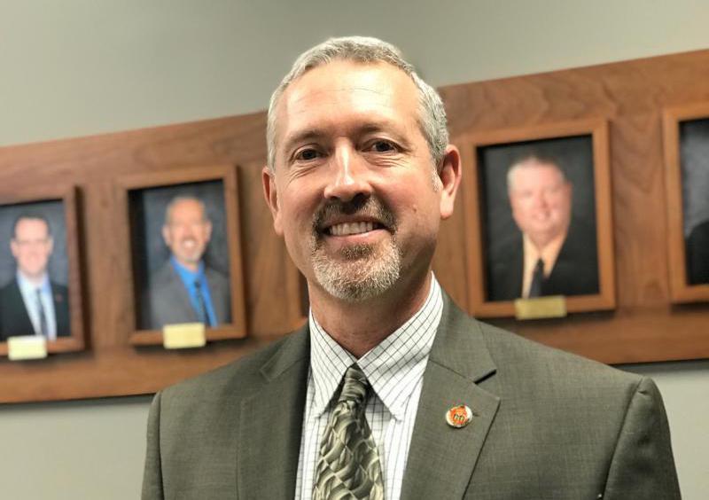 Unit 5 Board President Jim Hayek.