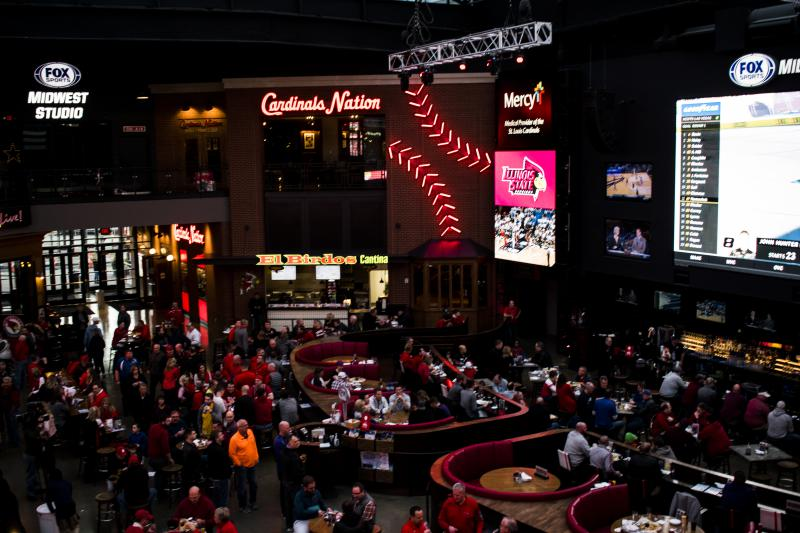 Redbird Fans flocked to the Budweiser Brewhouse to celebrate before the game.