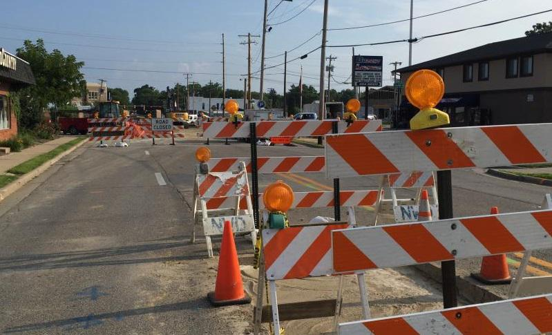 Portions of Center and Clinton streets in Bloomington might look a lot like this stretch of Main Street in Normal for the next month.