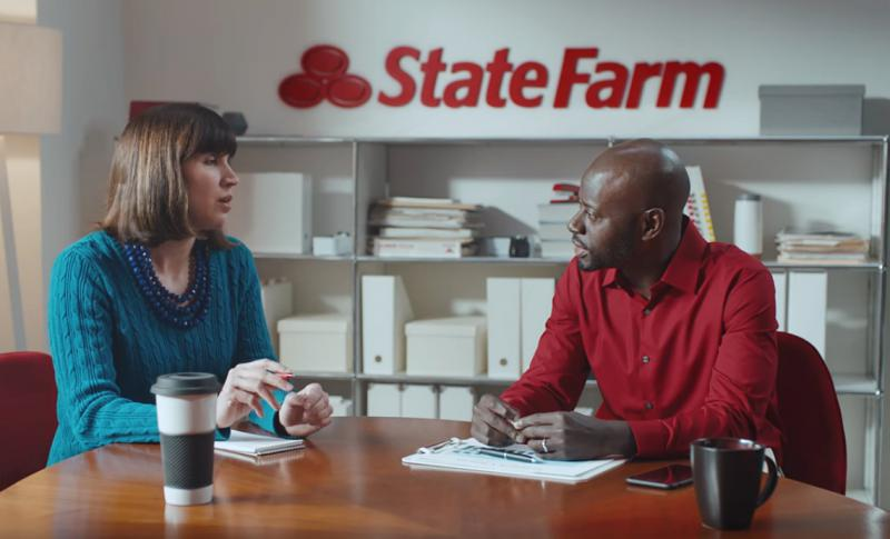 State Farm agent speaks to customer