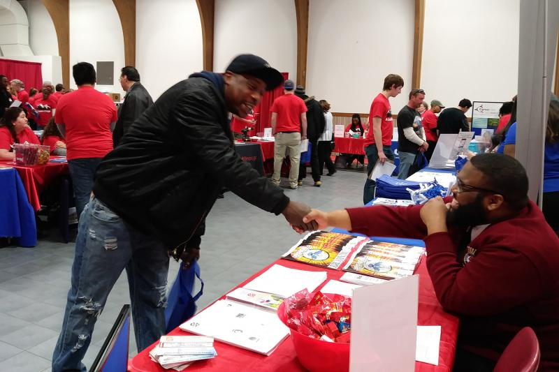 A variety of community groups were on hand for Tuesday's Summit of Hope at the Salvation Army to advise ex-offenders seeking a fresh start.