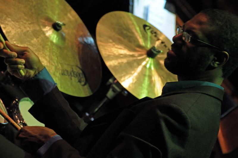 Dennis Mackrel at this drumset