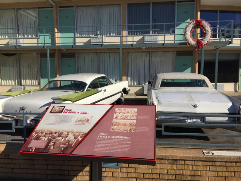 The balcony of the former Lorraine Motel where King was shot 50 years ago. The motel in downtown Memphis is now the National Civil Rights Museum.