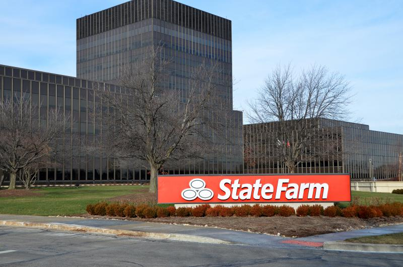 State Farm headquarters in Bloomington.