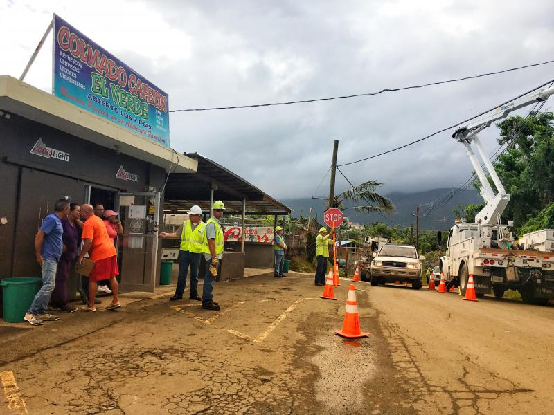 Ameren Employees working on a business in Puerto Rico