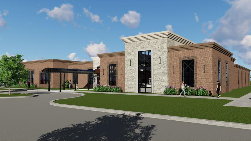An architectural rendering of the new eye care facility planned in Bloomington.