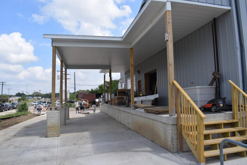 The ReStore's new covered (and elevated) drive-through donation dock.