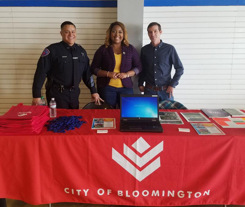 City of Bloomington employees at a recruitment event earlier this year.