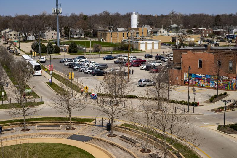 The site of the future Trail East project in Uptown Normal.
