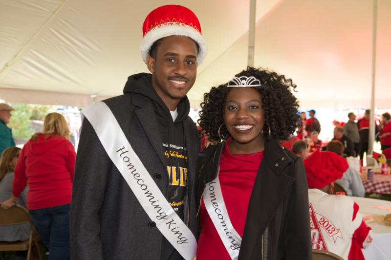 Ashley Shannon with Jalon Jones at ISU's 2016 homecoming