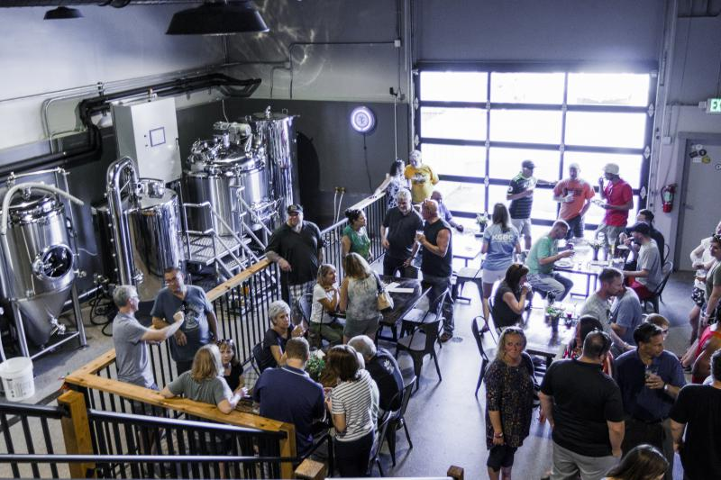 Opening day at the Keg Grove Brewing Co. in Bloomington on Friday, June 1, 2018.