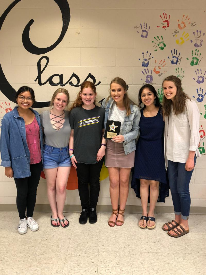 The state Best Buddies chapter recognized NCHS as its Outstanding Chapter of the Year from about 100 chapters statewide.