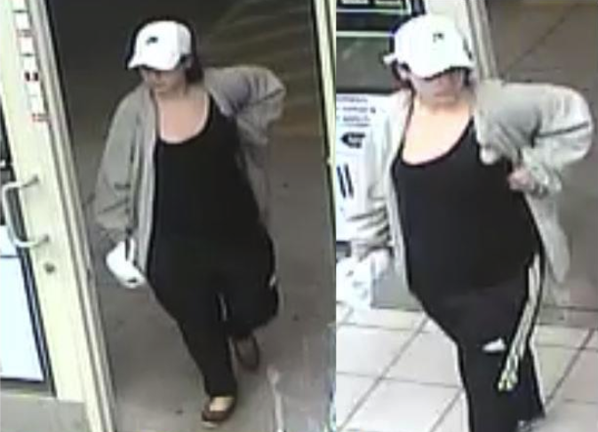 The female suspect in the Circle K robbery on Tuesday night.