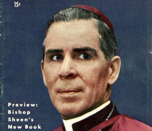 Archbishop Fulton Sheen on the cover of TV Guide.