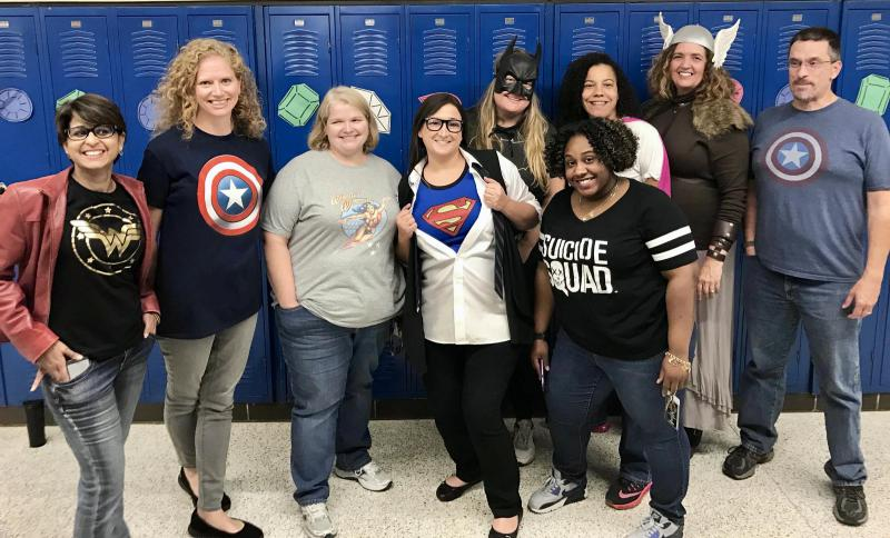 Language Arts teachers got into character for Spirit Week at Springfield's Southeast High School.