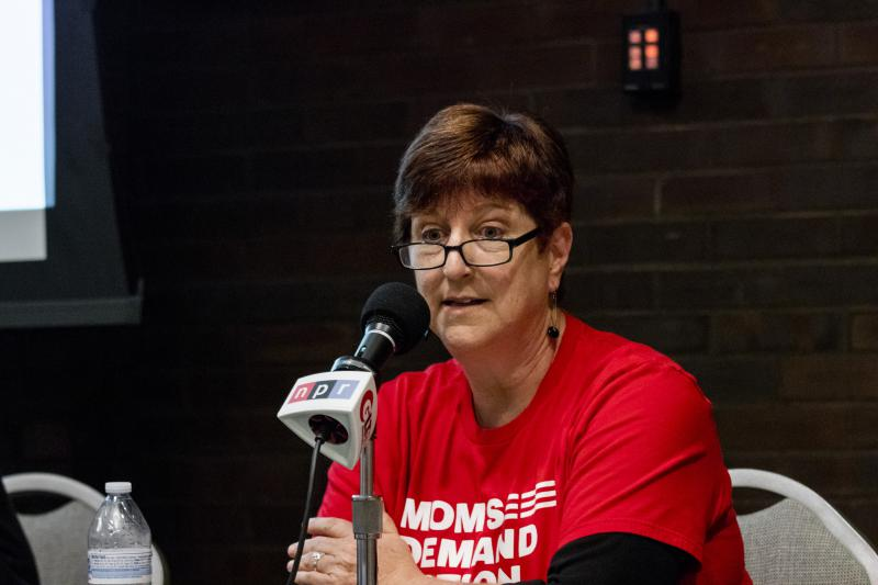 Panelist Karen Irvin at the GLT event Wednesday, June 27, 2018, at Illinois State University.