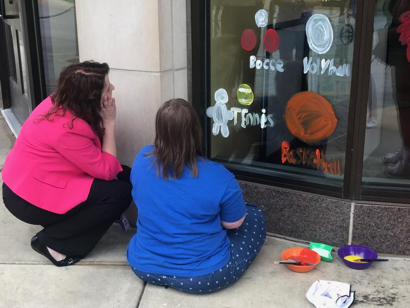 Highlights from the painting party in Uptown Normal for this weekend's Special Olympics Illinois Summer Games.
